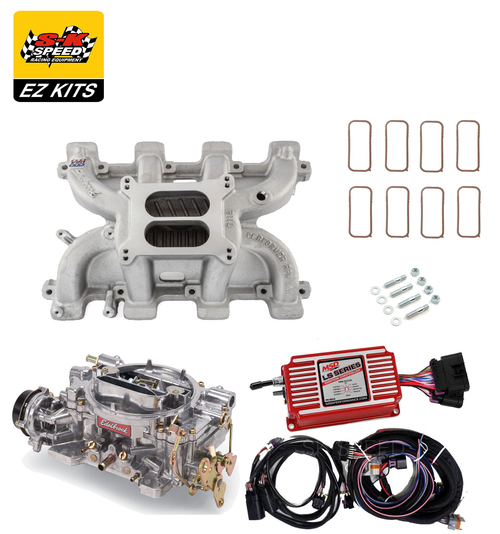 LS1 Carb Intake Kit - Edelbrock RPM Intake/MSD 6014 Ignition/Edelbrock 750 Carb