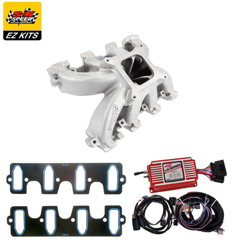 LS Cathedral Carb Intake Kit - Edelbrock Super Victor Intake/MSD 6014 Ignition