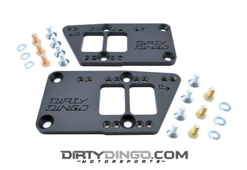 Dirty Dingo Black Steel Motor Mount Adapters - Chevy Motor Mounts to LS Engines