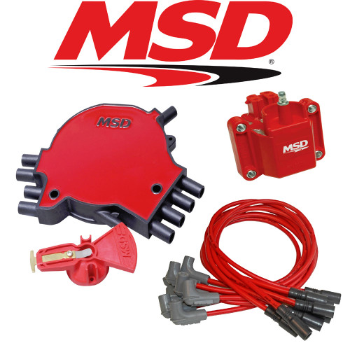 MSD Ignition Tuneup Kit - 1992-94 Corvette C4 5.7L LT1 Cap/Rotor/Coil/Wires