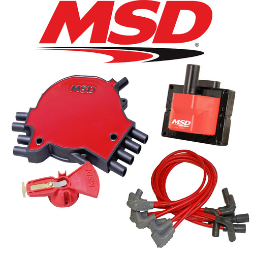 MSD Ignition Tuneup Kit - 1996 Caprice/Impala SS 5.7L LT1 Cap/Rotor/Coil/Wires