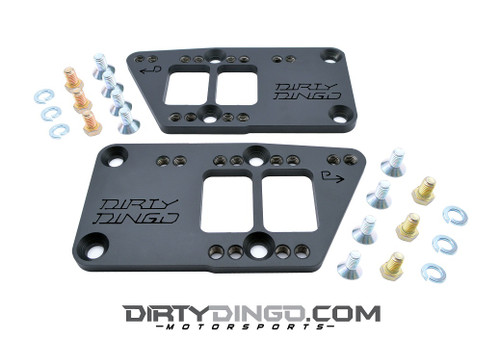 Dirty Dingo Raw Steel Motor Mount Adapters - Chevy Motor Mounts to LS Engines