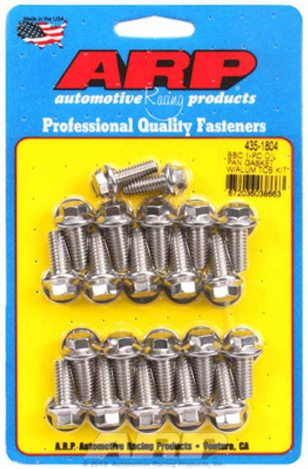 ARP 435-1804 Oil Pan Bolts - Big Block Chevy w/ 1 Piece Oil Pan Gasket Stainless