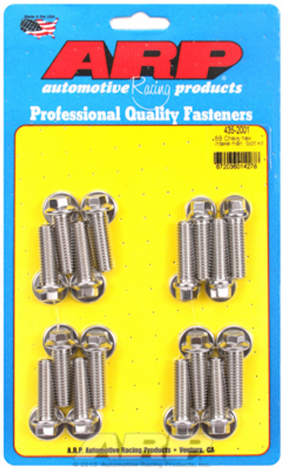 ARP 435-2001 Stainless Steel Intake Manifold Bolts - Big Block Chevy - Hex Head