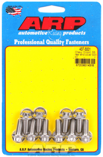 ARP 437-3001 Stainless Steel Rear End Cover Bolts - Chevy 10 Bolt w/ Steel Cover