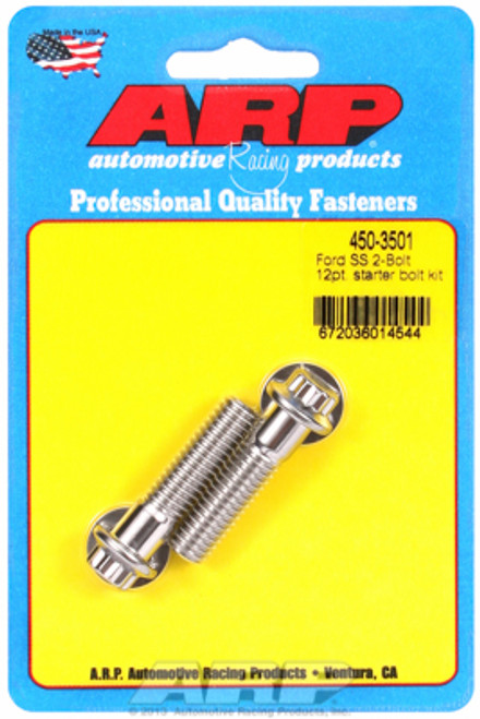 """ARP 450-3501 Stainless Steel 3/8"""" Ford Starter Bolts - 12 Point - 1.500"""" L Pair"""