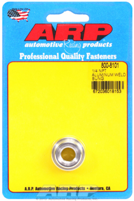 "ARP 800-8101 6061 Aluminum Weld-In Bung - 1/4"" NPT Female Thread"