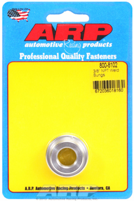 "ARP 800-8102 6061 Aluminum Weld-In Bung - 3/8"" NPT Female Thread"
