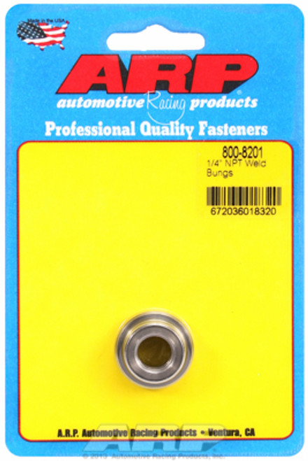 "ARP 800-8201 Mild Steel Weld-In Bung - 1/4"" NPT Female Thread"