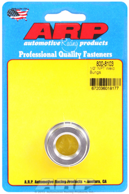 "ARP 800-8103 6061 Aluminum Weld-In Bung - 1/2"" NPT Female Thread"