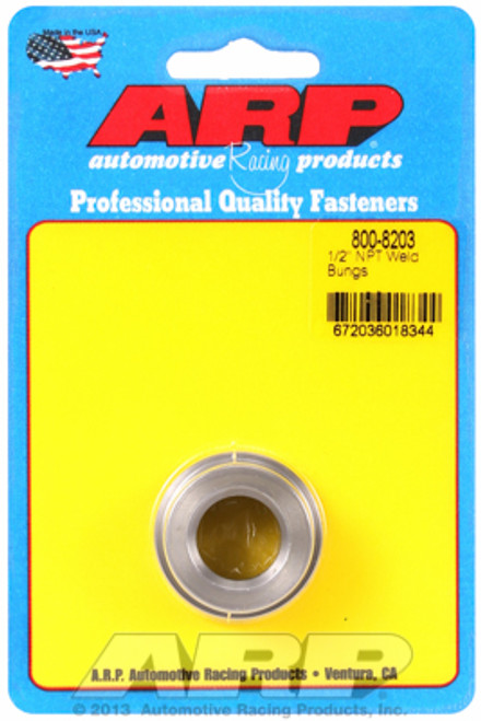 "ARP 800-8203 Mild Steel Weld-In Bung - 1/2"" NPT Female Thread"