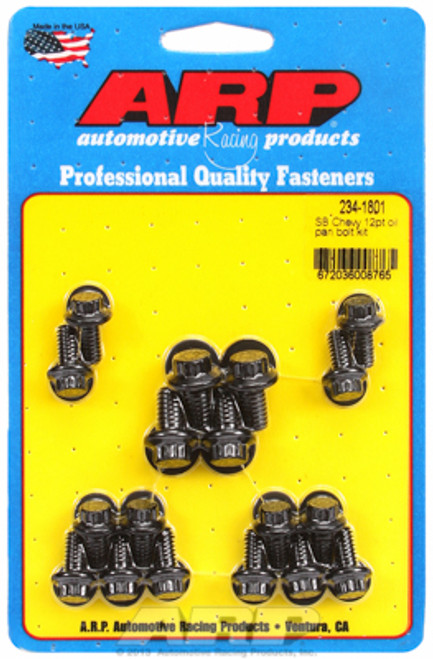 ARP 234-1801 Oil Pan Bolt Kit - Small Block Chevy - 12 Point Head - Black Oxide