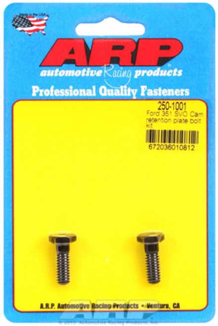 ARP 250-1001 Ford 351 SVO Block Cam Retainer Plate Bolts - Set of 2 - Hex Head