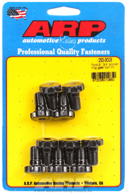 "ARP 250-3003 Ring Gear Bolts - Ford 9"" & 8.8"" - 7/16"" - 0.750"" Underhead Length"