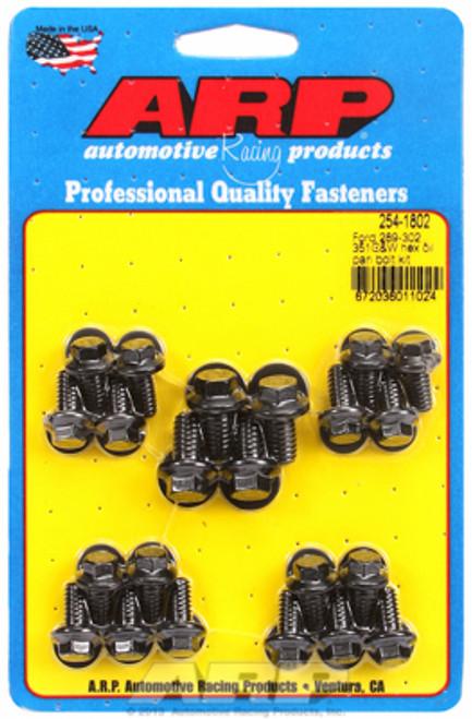 ARP 254-1802 Oil Pan Bolt Kit - Small Block Ford 302/351W Hex Head - Black Oxide