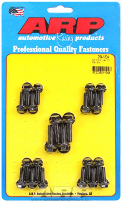 ARP 254-1804 Oil Pan Bolt Kit - Small Block Ford 302/351W Hex Head - Black Oxide