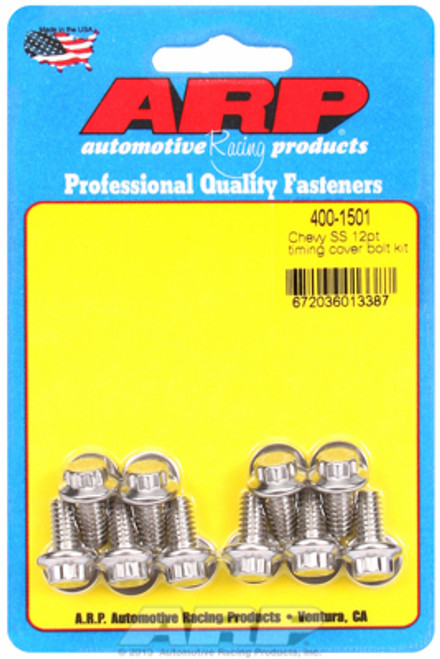 ARP 400-1501 Stainless Timing Cover Bolts Chevy Small Block/Big Block 12-Point