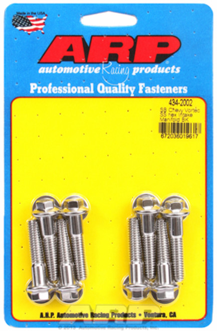 ARP 434-2002 Stainless Intake Manifold Bolts Small Block Chevy Vortec Heads Hex