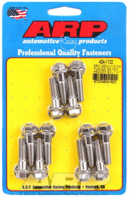 ARP 434-1102 Header Bolts - GM LS Engines Set of 12 - Stainless Hex Head - 25mm