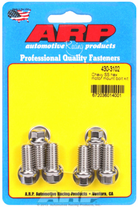 ARP 430-3102 Chevy Big Block/Small Block Motor Mount to Block Bolts - Stainless