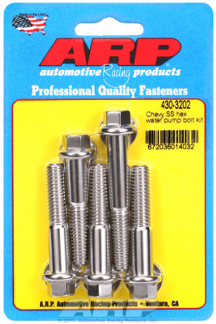 ARP 430-3202 Chevy Big Block/Small Block Water Pump Bolt Kit Stainless Hex Head