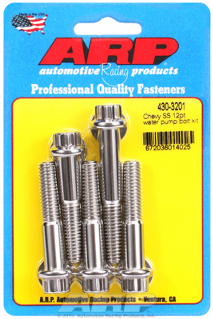 ARP 430-3201 Chevy Big Block/Small Block Water Pump Bolt Kit Stainless 12 Point
