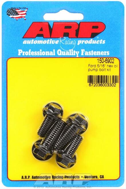"ARP 150-6902 Oil Pump Bolt Kit - Ford V8 - (2) 5/16"" Bolts + (2) 3/8"" Bolts"