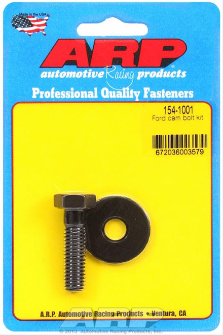 ARP 154-1001 Ford Windsor Small Block Camshaft Bolt w/ Washer - Black - Hex Head