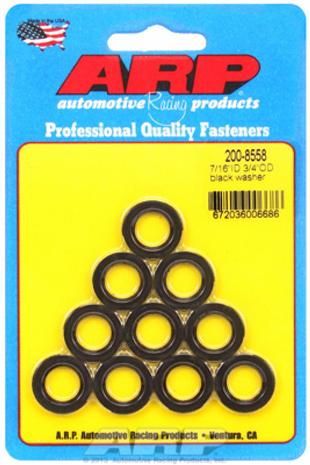 "ARP 200-8558 Chromoly Washers - 0.120"" Thick - 0.438 ID - 0.750"" OD - 10 Pack"