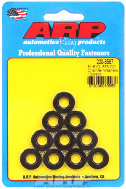 "ARP 200-8587 Chromoly Washers - 0.120"" Thick - 0.313"" ID - 0.675"" OD - 10 Pack"