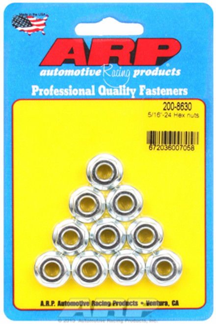 "ARP 200-8630 Nuts - Serrated 5/16""-24 - Cadmium Plated Steel - 10 Pack"