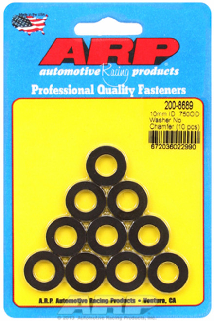 "ARP 200-8689 Chromoly Washers - 0.120"" Thick - 10mm ID - 0.750"" OD - 10 Pack"