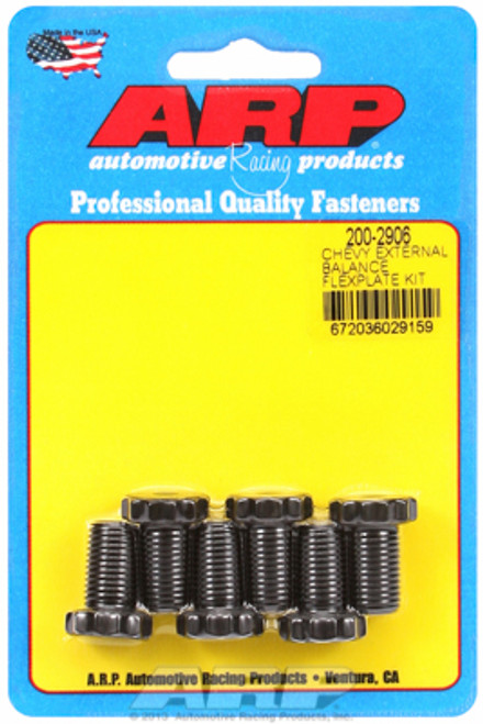 "ARP 200-2906 Flexplate Bolts Chevy V8 w/ 1 Piece Rear Seal 7/16"" 12-Point .725""L"