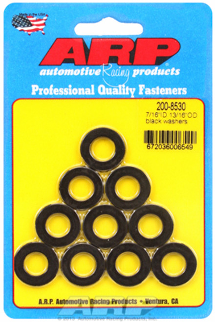 "ARP 200-8530 Chromoly Washers - 0.120"" Thick - 0.438"" ID - 0.813"" OD - 10 Pack"