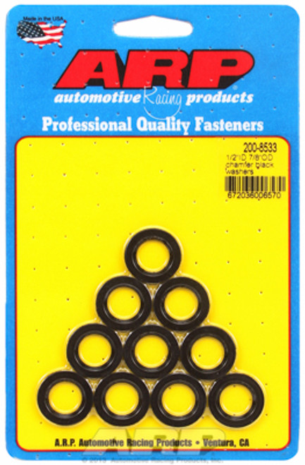 "ARP 200-8533 Chromoly Washers - 0.120"" Thick - 0.500"" ID - 0.875"" OD - 10 Pack"