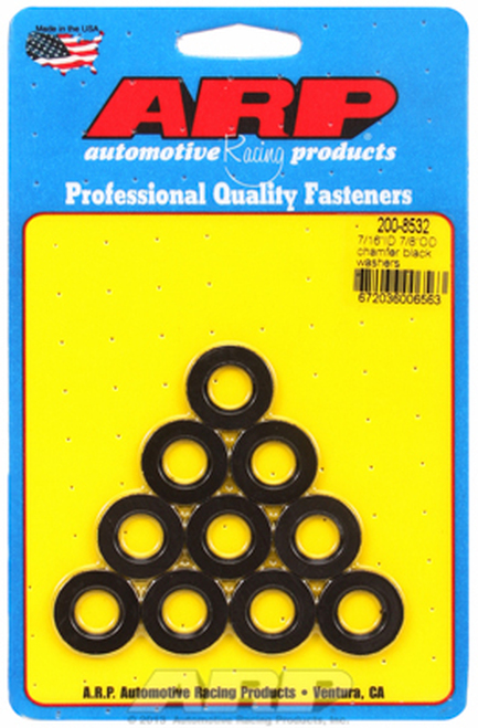 "ARP 200-8532 Chromoly Washers - 0.120"" Thick - 0.438"" ID - 0.875"" OD - 10 Pack"