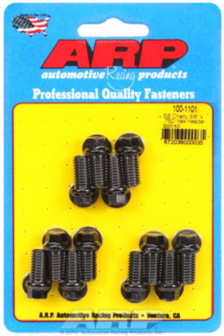 "ARP 100-1101 Header Bolts - SBC - 3/8"" Wrench Head - Black - Hex Head - .750"" L"
