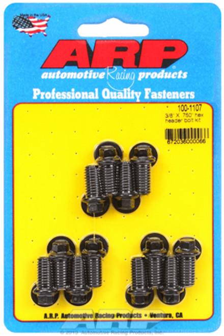 "ARP 100-1107 Header Bolts - SBC - 5/16"" Wrench Head - Black - Hex Head - .750"" L"