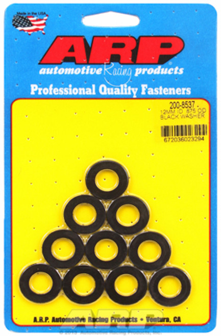 "ARP 200-8537 Chromoly Washers - 0.120"" Thick - 12mm ID - 0.875"" OD - 10 Pack"