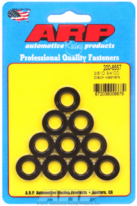 "ARP 200-8557 Chromoly Washers - 0.120"" Thick - 0.375"" ID - 0.750"" OD - 10 Pack"