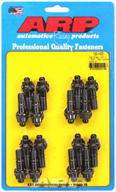 "ARP 100-1403 3/8"" Header Stud Kit - BBC/Ford - 12-Point Nuts - 16pc 1.670"" UHL"