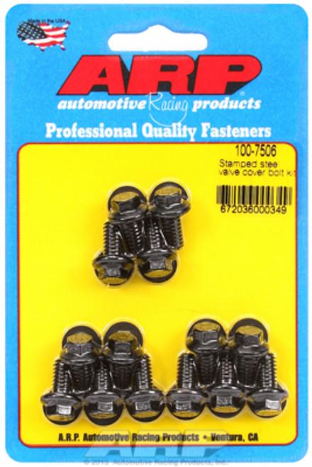 "ARP 100-7506 Valve Cover Bolt Kit - Black - Hex Head 14pc - 0.515"" UHL BBC/Ford"