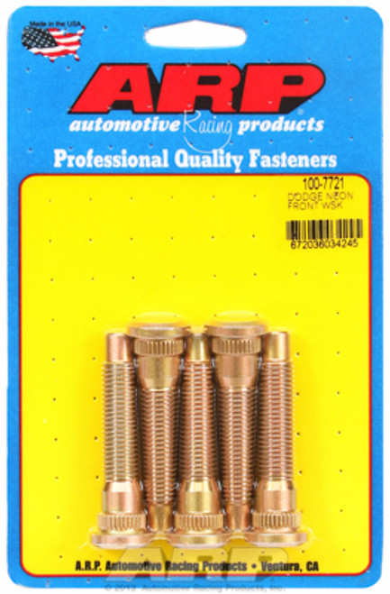 "ARP 100-7721 Extended Wheel Studs Dodge Neon M12x1.5 - 2.450"" UHL .585 Knurl"