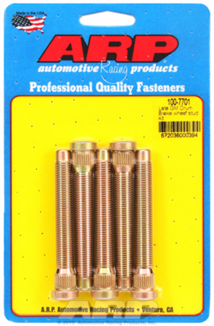 "ARP 100-7701 Extended Wheel Studs - GM Late Rear Drum - .486"" Knurl 7/16"" Thread"