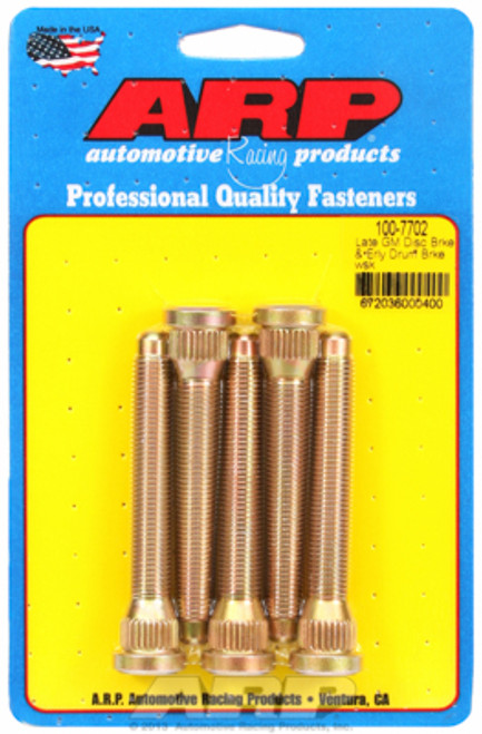 "ARP 100-7702 Extended Wheel Studs - GM Disc/Early Drum  .580"" Knurl 7/16"" Thread"