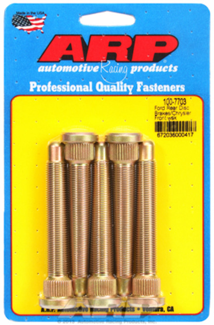 "ARP 100-7703 Extended Wheel Studs Ford Disc/Mopar Drum  .625"" Knurl 1/2"" Thread"