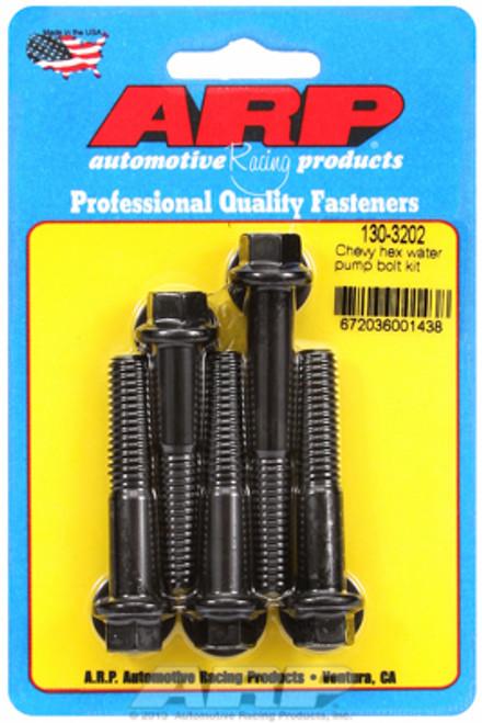 ARP 130-3202 Chevy Big Block/Small Block Water Pump Bolt Kit - Black Hex Head