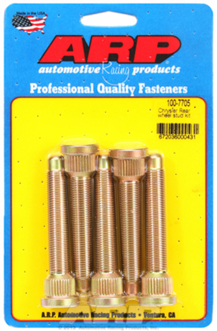 "ARP 100-7705 Extended Wheel Studs Chrysler Rear 1/2"" Thread 3.13"" UHL .680 Knurl"