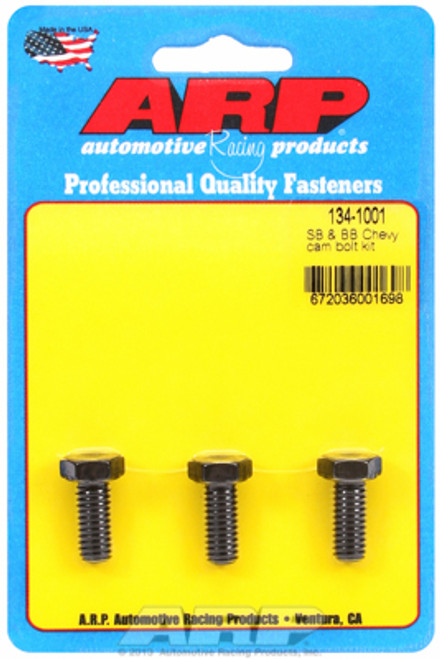 ARP 134-1001 Chevy Big Block/Small Block Camshaft Bolts - Set of 3 - Hex Head
