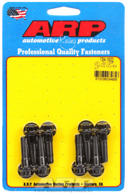 ARP 134-1502 Timing Cover Bolts - GM LS Gen III/IV Engines - Black 12-Point Head